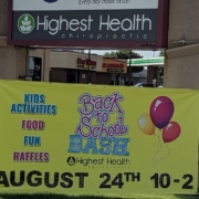 Highest Health Chiropractic, Sioux Falls Back to School Bash - Blvd Sign
