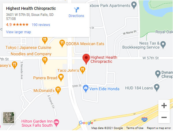 Get directions to Highest Health Chiropractic in Sioux Falls, SD